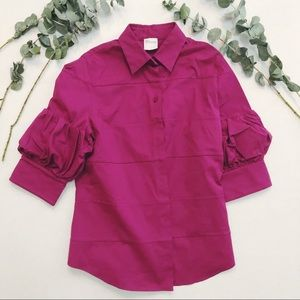 Pink blouse with sleeve detail
